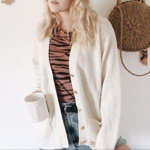 Vintage | Fall Cream Oversized Cardigan